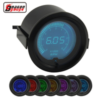 Dragon gauge 52mm 7 Color Backlight LCD Digital Auto Car Tachometer Meter 0 10000 RPM Gauge Free shipping