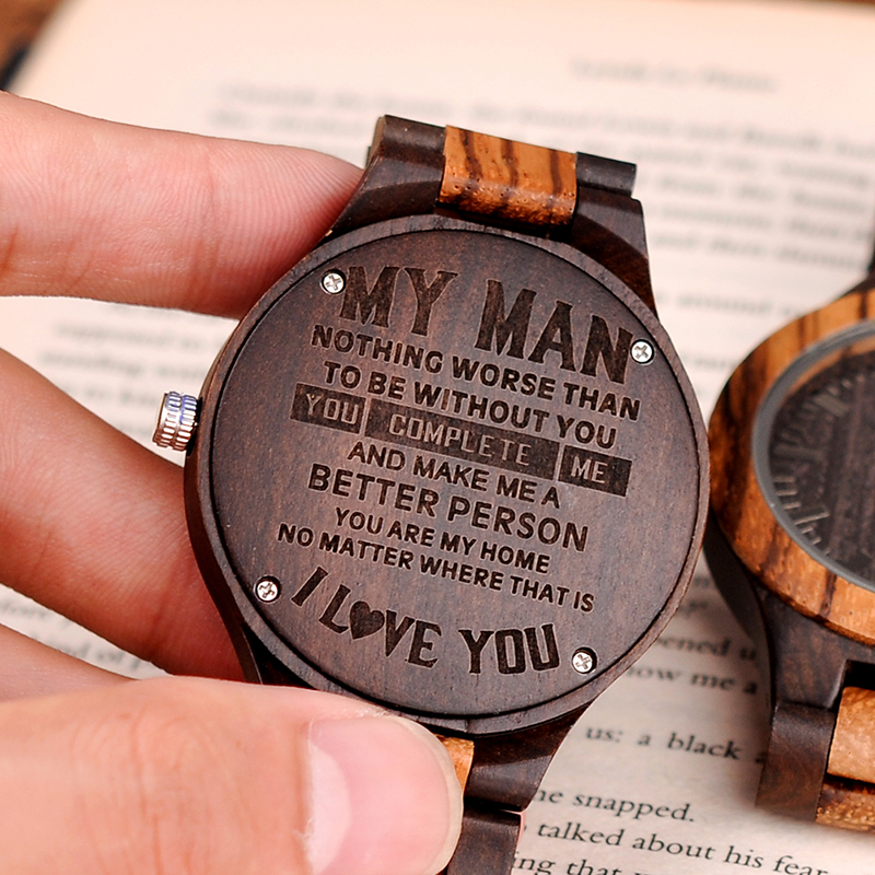 Personalized Wood Watch Customization Best Gifts For Dad ,Friend, Birthday And Anniversary Gifts Custom Logo