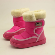Girls Green Brown Rose Flat Snow Boots For Kids 2-10Years Warm Slip-resistant Children Casual Shoes Hot Sale New Winter Boots