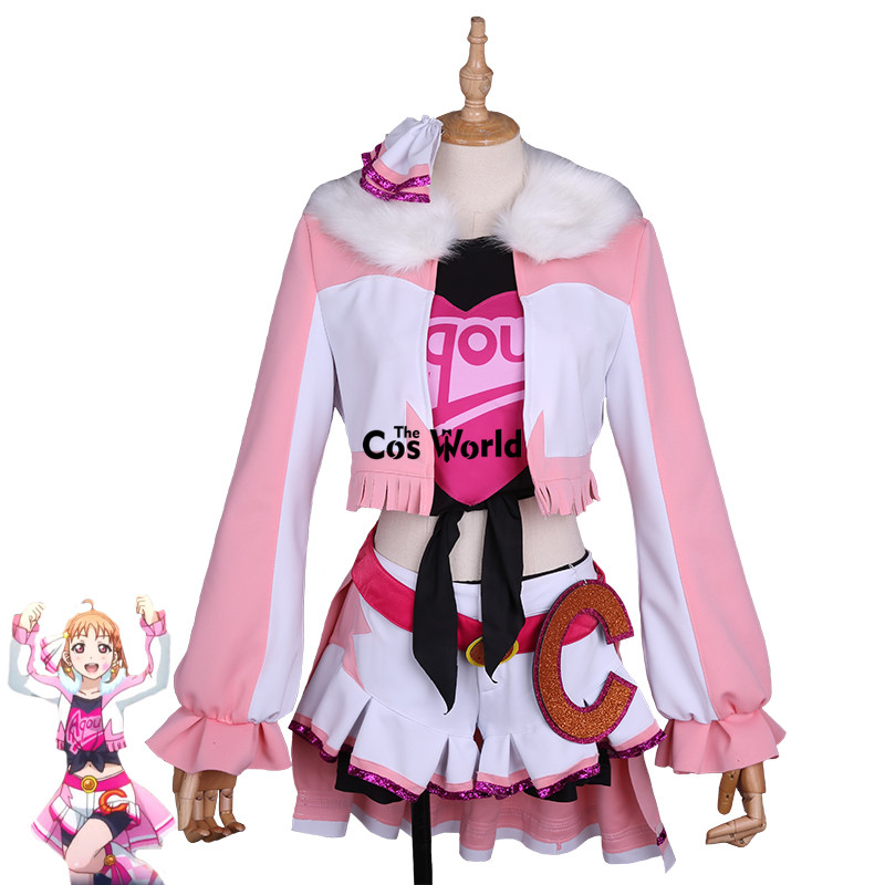 Love Live Sunshine Miracle Wave Takami Chika Coat Tops Dress Uniform Outfit Anime Cosplay Costumes