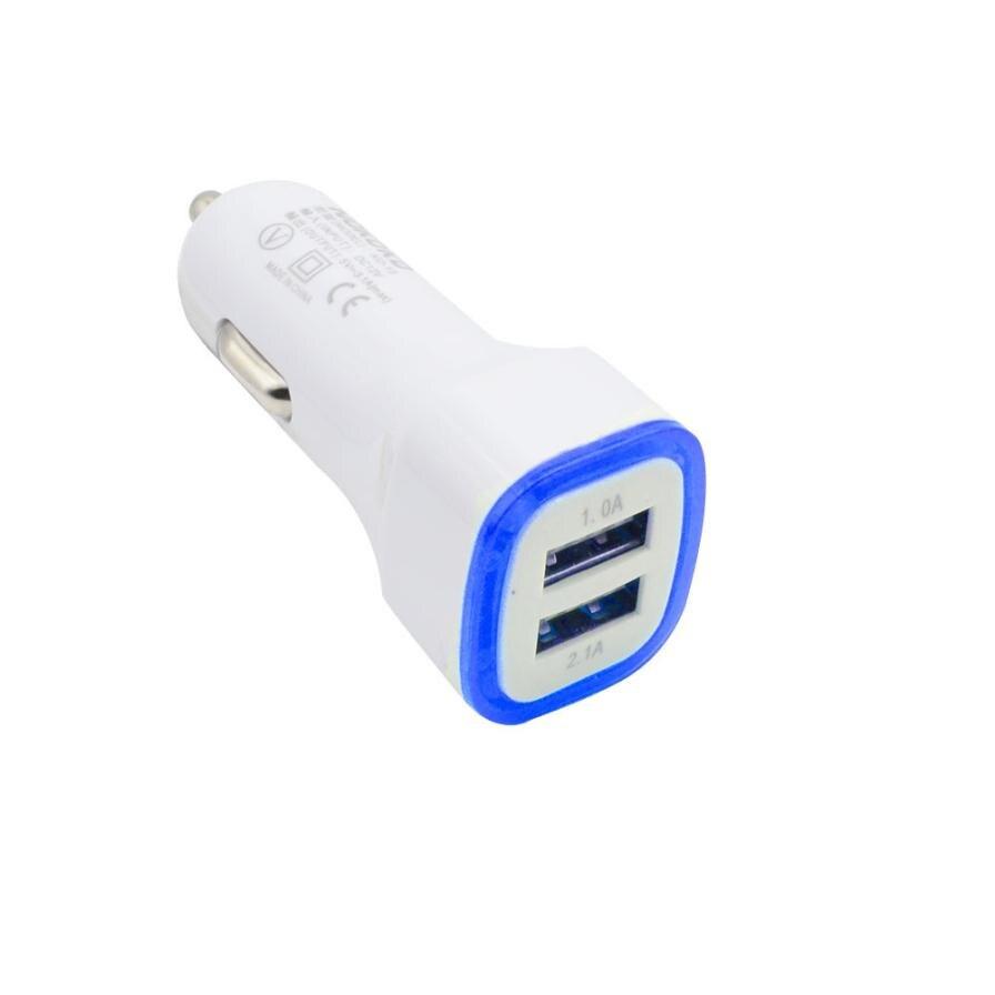 Kongyide 3.1A светодиодный USB двойной 2 Порты и разъёмы Разъем Адаптера автомобиля Зарядное устройство для iPhone/samsung/htc Mar31 Прямая поставка