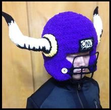 New Sweet Cute Handmade Crochet Cartoon hat multicolor American football helmet Knitted hat