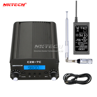NKTECH CZE 7C PLL FM Transmitter Radio Broadcast Station 1W/7W Stereo Frequency 76 108Mhz Pro Campus Amplifiers LCD Backlight