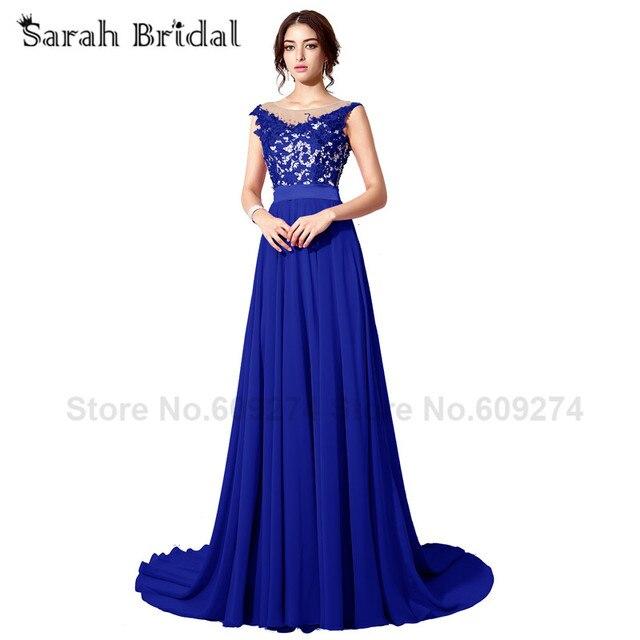 Lange Elegante Royal Blue Prom Kleider Sexy Plus Size Luxus Kristall ...