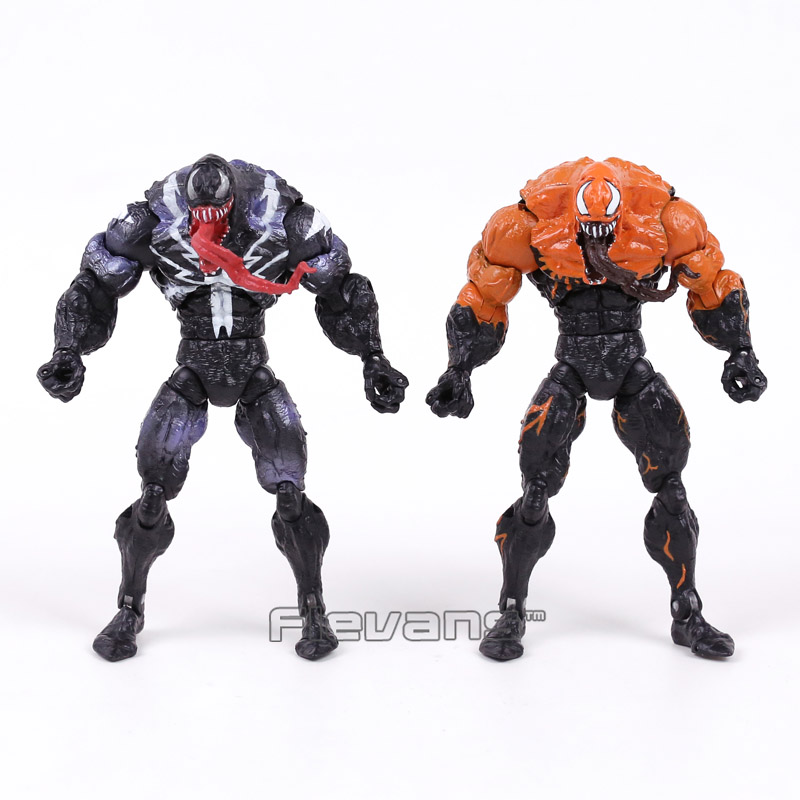 Genuine Original Venom from Spider Man PVC Action Figure Collectible Model Toy 7inch 18cm 2 Styles marvel iron man mark 43 pvc action figure collectible model toy 7 18cm kt027