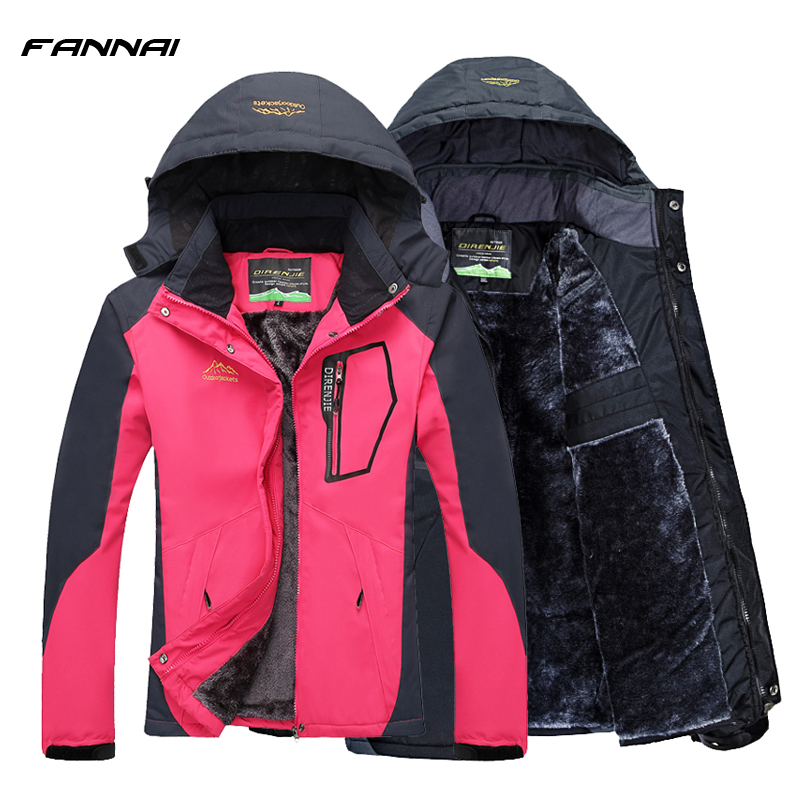 Winter Hiking Jacket Women/Men Camping Softshell Heated Jackets Outdoor Windbreaker Trekking Climbing Waterproof Sport Coat 2017 new brand fleece softshell jacket women outdoor climbing hiking sport jacket women windbreaker thermal waterproof jacket