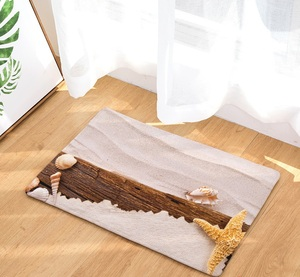 Image 3 - CAMMITEVER Sand Beach Sea Stars Mat Tapete Bathroom Kitchen For Bedroom Area Rug For Living Room
