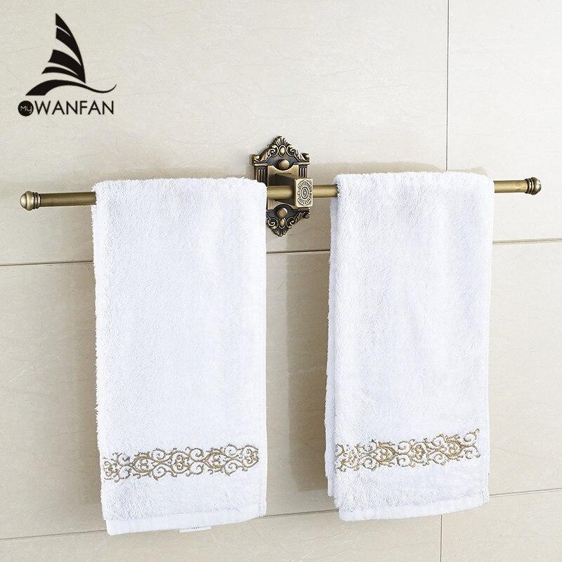 ФОТО Antique Brass Single Towel Bar/Towel Rack /Towel Rail Bathroom Accessories Solid Brass Bathroom Products towle ring  WF-71221