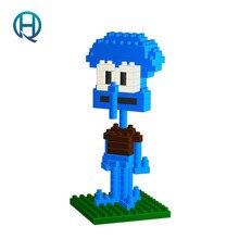 Mini Nano Blocks SpongeBob LOZ Building Blocks Squidward Tentacles Figures Diamond Blocks Compatible Legoelieds Toys  9145