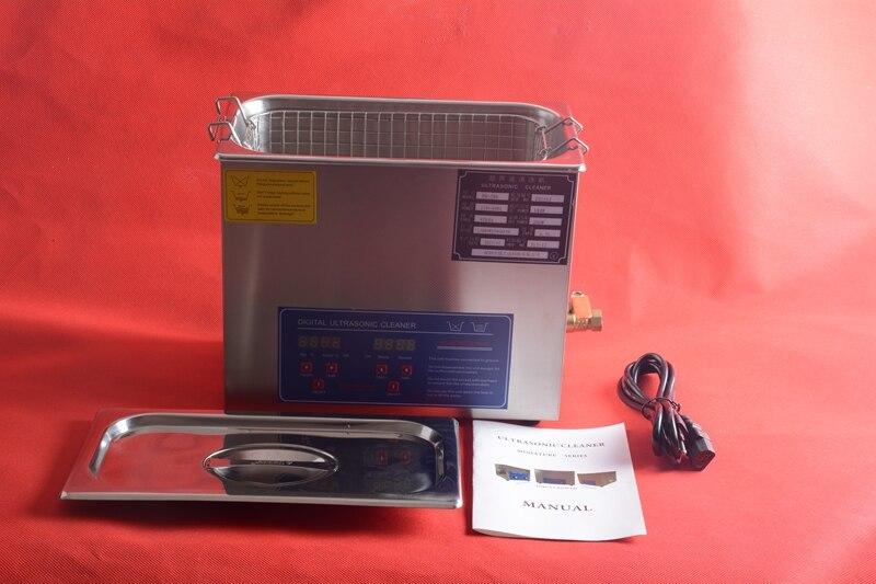 Machine de nettoyage à ultrasons numérique en acier inoxydable 2L pour le nettoyage des bagues de bijoux