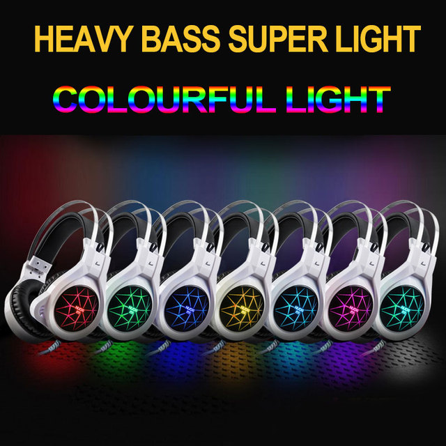 New Super LED Backlight Gaming Deep Bass Headphones 5