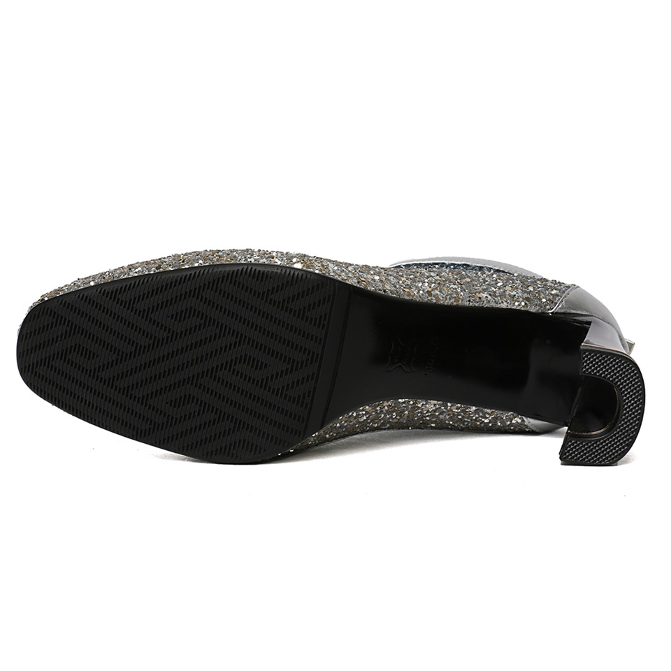 Mode Femmes Bottes Noir Confortable silvery De Plush Qualité Talons Short Hiver Tissu Chaussures Automne Conception À argent black Plush Hauts L'intérieur Haute Brillant Belle qIwtTEwz