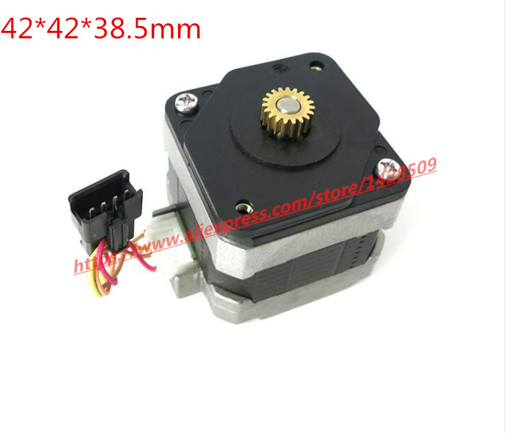 1 set 12v metal Micro gear stepper motor and Four wire two phase stepper angle 0.5 modulus 42mm 1.8 stepping angle high quality two phase four wire dc stepper motor step angle 1 8 degree with output gear