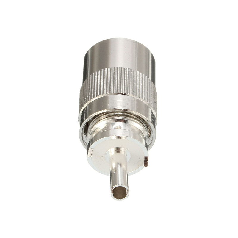 1PC Metal Silver UHF PL-259 Male Solder on RF Connector Plugs for RG8 Coax Cable 40x15mm цена и фото