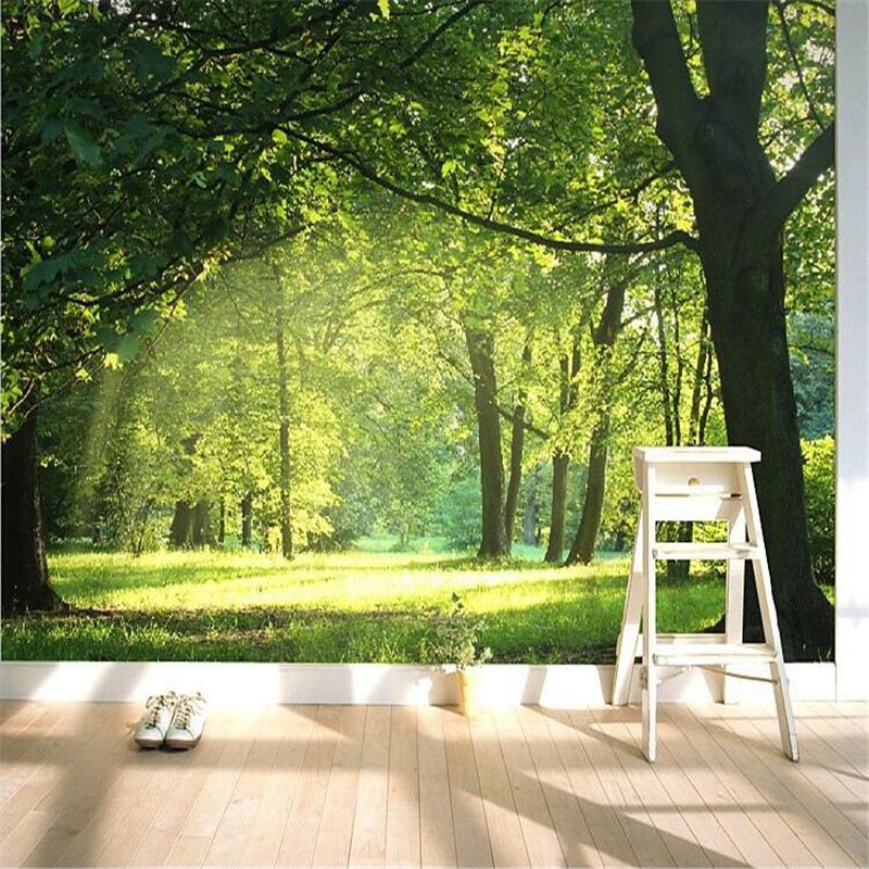 Buy custom 3d wallpaper idyllic natural for Nature wallpaper for bedroom