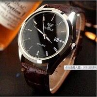 2016 Men Watch Brand Yazole Quartz Watch High Quality Leather Business Wristwatch Auto Calendar Waterproof Relogio