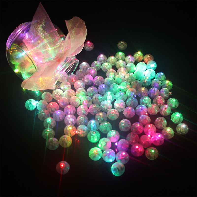 10Pcs/lot Mini LED Light Up Flashing Balls Tumbler LED Luminous Lights Ball Glow In The Dark Toys For Children Christmas Party