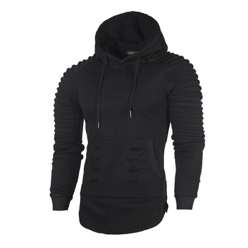 2018 Mens Long Sleeve Hoodies Solid Color Sweatshirt Male Hooded Pullover Hip Hop hoodies and sweatshirts Hoody Tracksuit