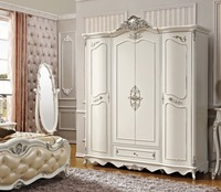 European style wardrobe bedroom home furniture 4 doors from foshan China furniture