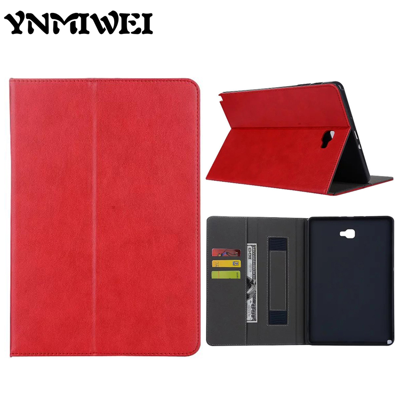 Tab A 10.1 P585 Tablet Case Flip PU Leather Case Shockproof Ultra-slim Stand Case For Samsung Galaxy Tab A P585 Protective Cover flip left and right stand pu leather case cover for blu vivo air