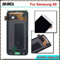Sinbeda Super AMOLED HD LCD Screen For Samsung Galaxy S6 G920F G920A LCD Display Touch Screen