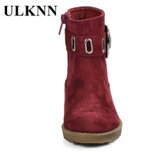 Winter Children Shoes High Quality Leather Kids Boots Boys Girls Baby Plush Sole Fur Buckle Zip Waterproof Warm Snow Boots