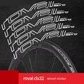 Roval CLX32 CLX 32 Aufkleber Set für C Bremsscheibe Bremse  zwei Carbon Räder Rennrad Fahrrad Radfahren Decals  23 farben optionen-in Fahrradaufkleber aus Sport und Unterhaltung bei