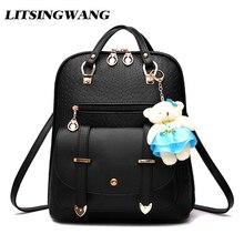 Litsingwang подросток рюкзак из мягкой искусственной кожи школьный рюкзак для девочки-подростки, школьные сумки Back Pack 2017 Kawaii Bagpack