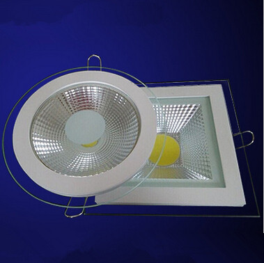 Downlights Factory Direct Sale Dimmable 9w 15w 18w Cob Panel Light Recessed Cob Downlight Glass Cover Led Spot Bulb 85-265v/ac110v/ac220v