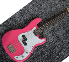 цена на top quality custom pink  Electric Bass Guitar P bass offering customized services