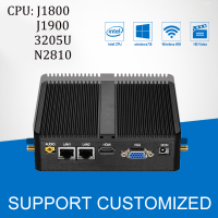 Mini PC J1900 Quad Core 4G RAM Windows 10 2 LAN 2 COM Fanless Mini Computer