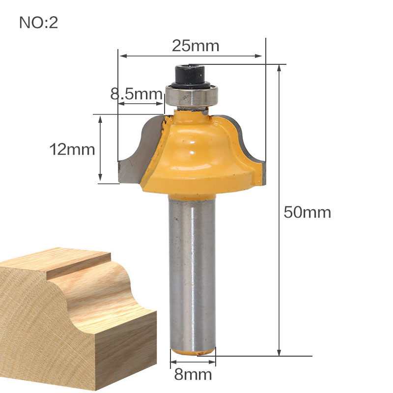 1 pz 8mm Fresa per legno con codolo Fresa per estremità dritta - Macchine utensili e accessori - Fotografia 4