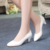 Mulheres Preto/branco de Couro Macio Do Dedo Do Pé Apontado Sapatos de Couro Mulheres Bombas Sapatos