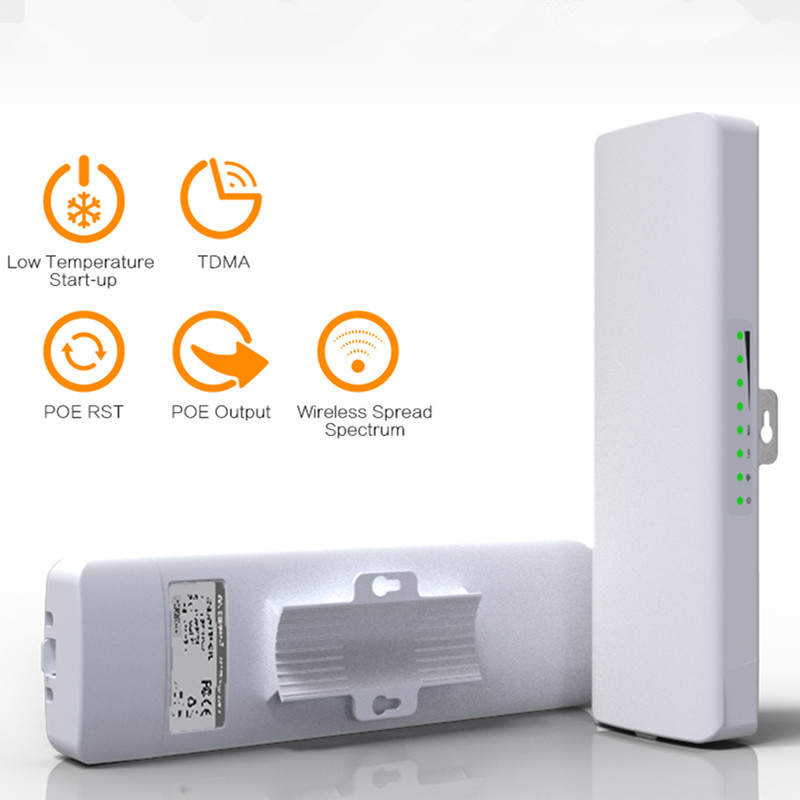 300Mbps 5.8Ghz outdoor WIFI receiver&launcher with 2*14dBi WI-FI Antenna high power AP wifi repeater comfast wireless bridge CPE