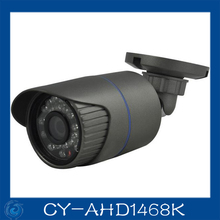 1/4 CMOS 24pcs led Waterproof aviation connector IP66 AHD 720P car cctv camera.CY-AHD1468K