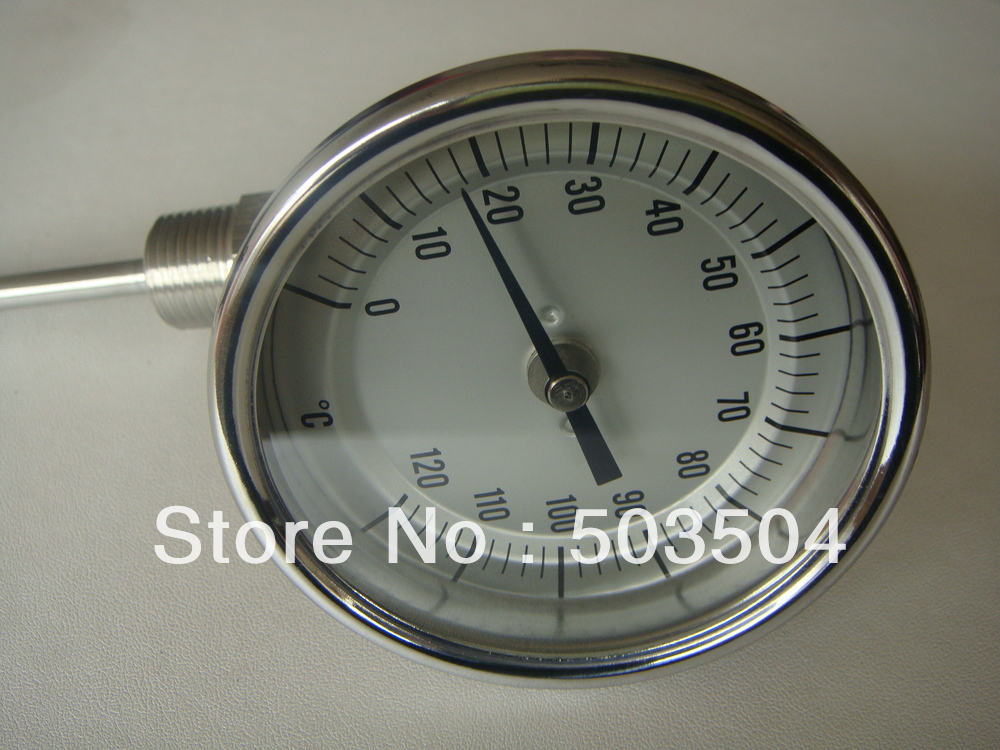 0-120C Adjustable industrial thermometer, SS 304 case, best price ,good quality