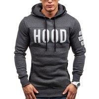 2017 Hoodies Brand Men Chest Letter Printing Sweatshirt Male Hoody Hip Hop Autumn Winter Hoodie