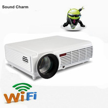 New Android4 4 Full HD 1080p 5500lms 3D Proyector Native1280 800 digital Video projector fo 300