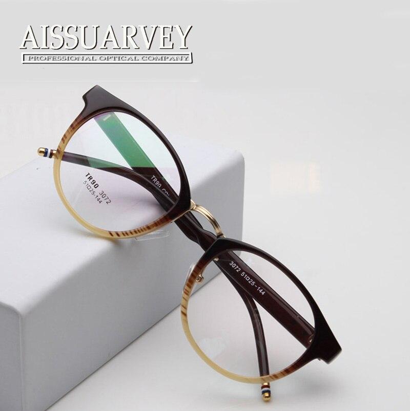 1208add6ba Glasses Frame Women Men Round TR90 Fashion Brand Designer Eyeglasses Marcos  De Lentes Opticos Antistress Optical Eyewear Goggles-in Eyewear Frames from  ...