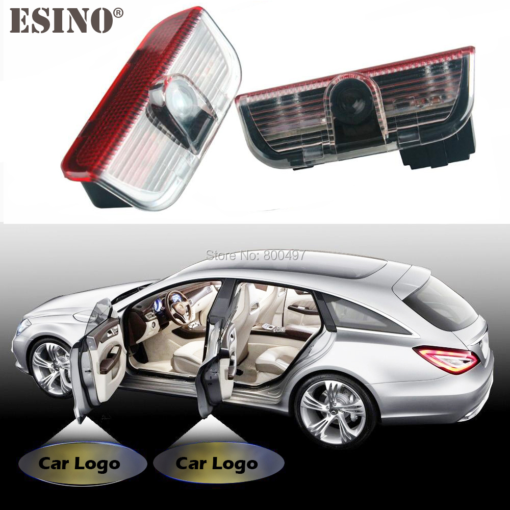 2 x Car LED Logo Light Door Laser Welcome Projector Lights Welcome lIghts  for Skoda Superb 2009 2010 2011 2012 2013 2014 2015 for skoda octavia led 3w welcome car door logo lights projector laser ghost 3d shadow accessories original door light replace