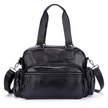 лучшая цена 2018 New Genuine Leather Men Travel Bags Handbag Male Business Men's Tote Briefcases Boy 16