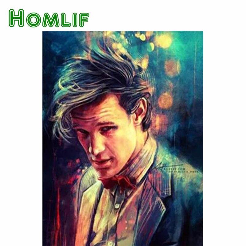 HOMLIF Diy Diamond Embroidery Doctor Who Series Diamond