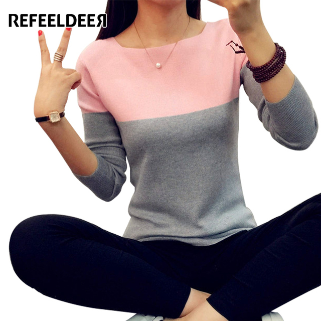 Refeeldeer Autumn Winter Sweater Women 2017 Knit High Elastic Jumper Women Sweaters And Pullovers Female Pull Femme Tops Jersey