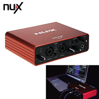 NUX UC 2 Mini Port USB Audio Interface Compact And Convenient For Mic MIDI Instrument Recording