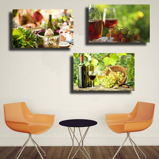 Qkart fotos 3 unidades uva pared para comedor restaurante for Cuadros en country para comedor