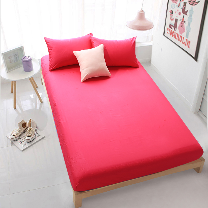 home textile orange fitted sheet bed sheets covers mattress cover