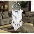2017 handmade dream catcher circular net with more white feathers home graden hanging christmas decoration craft