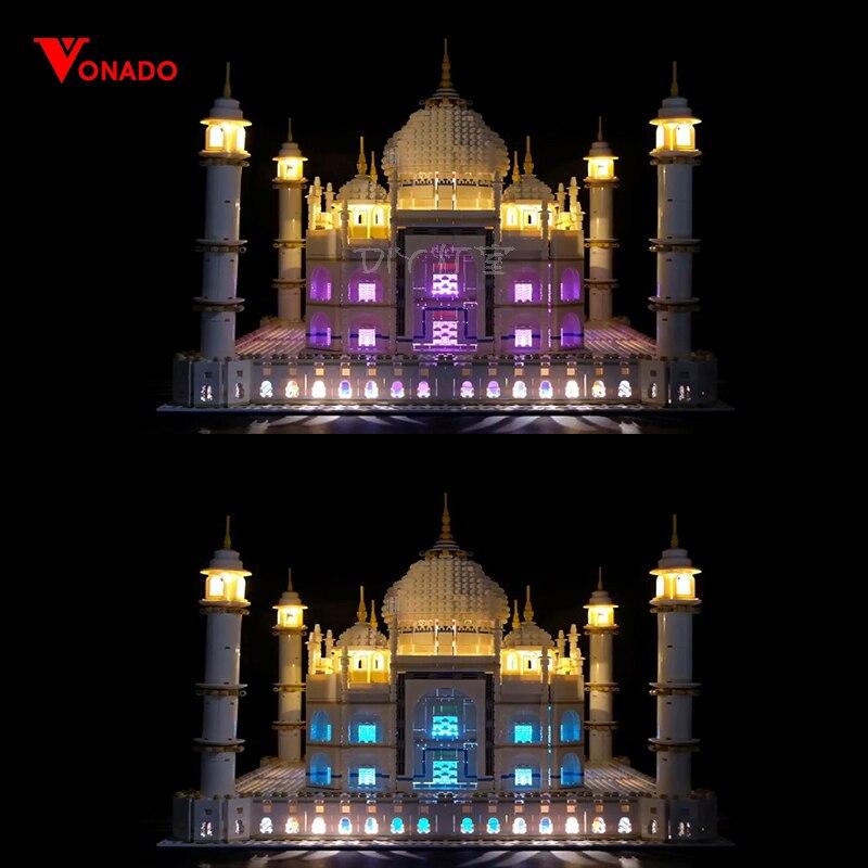 Kit d'éclairage LED pour lego 10189 10256 et 17001/17008 les blocs de construction taj mahal briques jouets cadeaux jouets pour enfants (lumières seulement)-in Blocs from Jeux et loisirs    1