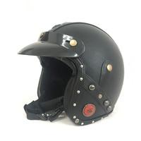 Vintage Leather Motorcycle Helmet Retro Harley Style Scooter Helmet Men Women S 3 4 Moto Motocross
