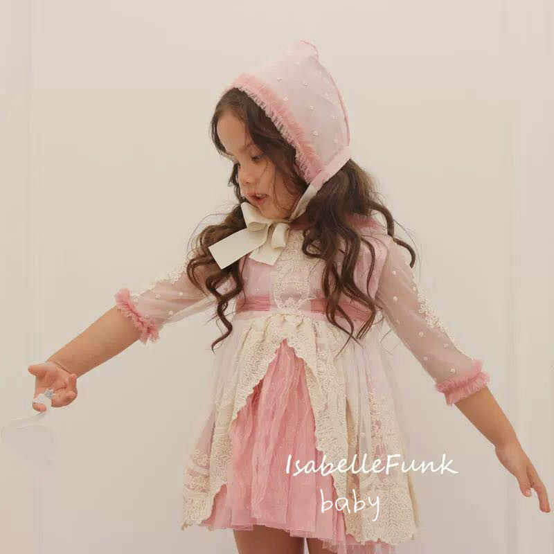 ff64a2684 2019 Spring Spanish Children's Clothing Court Girl Lace Embroidery Princess Dress  Baby Birthday Dress Children's Day